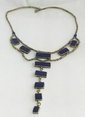 WoW afghan tribal Traditional Jewelry necklace pendant lapis lazuli