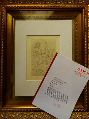 Picasso Lithograph 1973 + COA , CERTIFICATE OF AUTHENTICITY