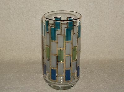 Libbey Art Deco Tiles Tall Tumbler Water Drinking Glass