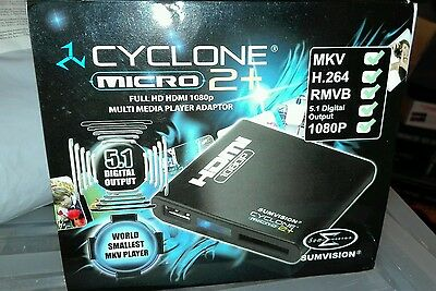 Sumvision Cyclone 2+ Media Player - 1080P Hdmi - Brand New Boxed - Free Uk P&p