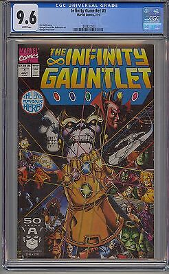 Infinity Gauntlet #1 Cgc 9.6 White Pages Marvel