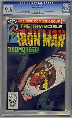 Iron Man #149 Cgc 9.6 White Pages Marvel Dr. Doom Cover