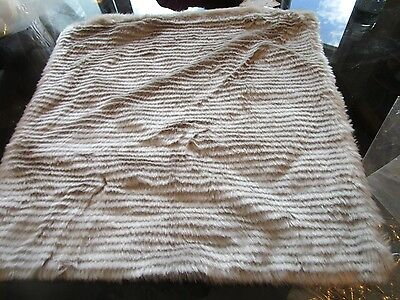 West Elm luxe layers stripe Faux Fur Pillow cover 18  New