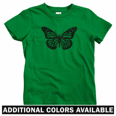 SOLAR WINGS--Caterpillar Butterfly Sun Powered Color Changing Kids T shirt