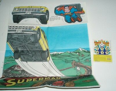 1980 Post Cereal Premium DC Comics Superman Poster & Contest entry card
