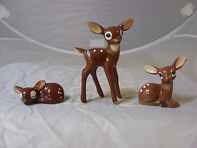 Hagen Renaker lot of three fawns-standing, sleeping, and waking