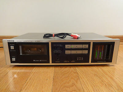 NIKKO ND-620 Stereo Cassette Deck Recorder 1982-85 Japan TESTED 100% Works Great