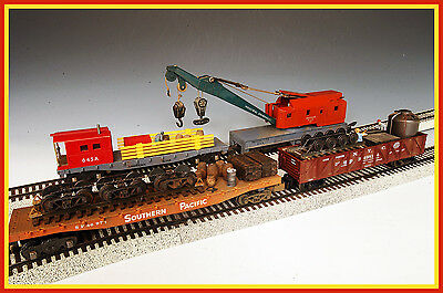 1:64 Customized American Flyer & S-Helper Emergency Track Gang Repair 4- Pc. Se
