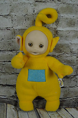 "1998 Talking Teletubies Lala Yellow Plush 16"" Hasbro"