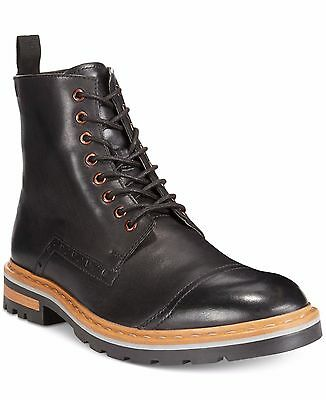 Clarks Mens Dargo Rise Black Leather Ankle Chelsea Lace Up Boots, UK 9.5