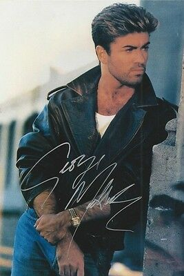 """George Michael 4x6 Signed Autograph Reprint """"Mint"""" {FREE SHIPPING}"""