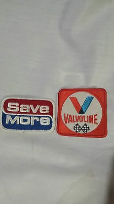 1980s Valvoline Oil Embroidered Patch & a Save More gasoline patch -nos
