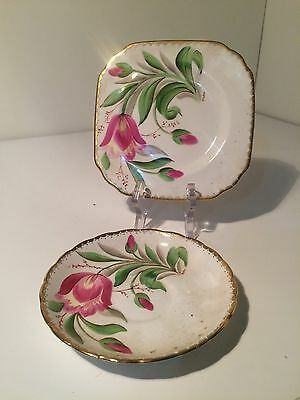Vintage Tuscan Fine England Bone china Plate Saucer C9027 Pattern High Tea
