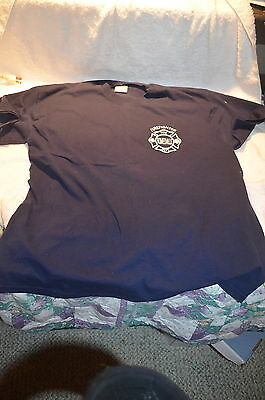 Romeoville, Illinois Firefighter, Fire Department Shirt, Size Large, 2 Sided
