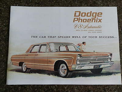 1965 Dodge Phoenix ''rare'' Rhd Aust Sales  Brochure  100% Guarantee