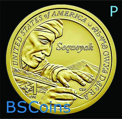 2017 P NATIVE AMERICAN Sequoyah Dollar ONE Coin - FREE Ship - Ship TODAY!!