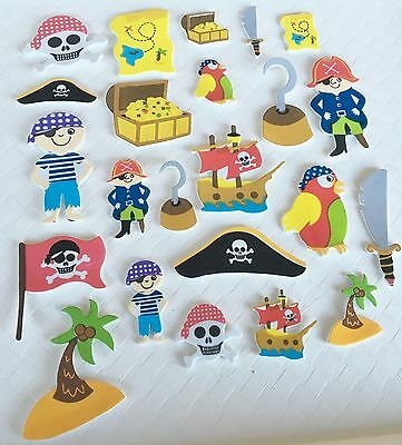 Pirate Foam Stickers x 96