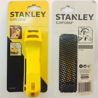 Stanley 5-21-104 140mm Flat Moulded Body Surform Block Plane