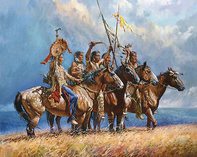 """HD Art Canvas Print, Oil Painting The Gathering Storm. A6004,16""""x20"""""""