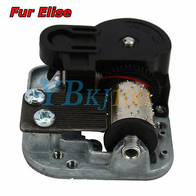 Wind Up Musical Movements Part With Screws Winder Fur Elise Music Box DIY Gift