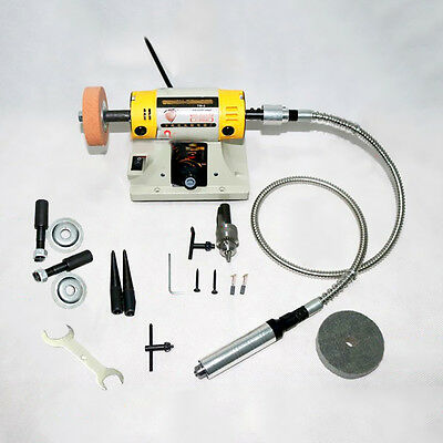 Professional Jewelry Polishing Machine GS01 Mini Drill Bench Lathe Grinder Tools