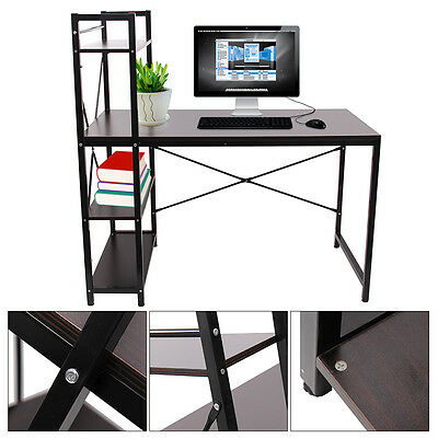 4 Tiers Shelving Computer Desk Home Office Student PC Workstation Laptop Table