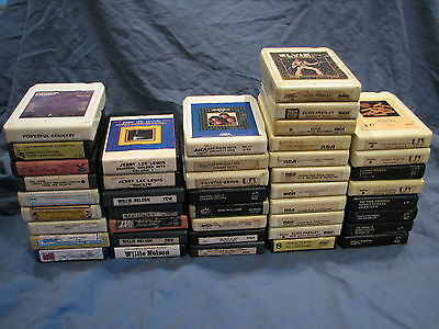 Vintage 8-Track Tapes~Elvis,Kenny Rogers,Willie Nelson......