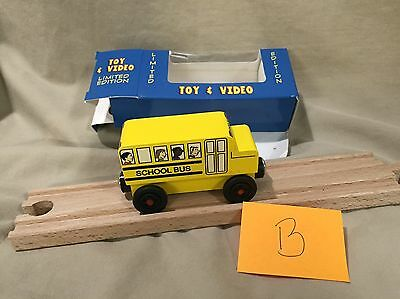 Mister Rogers Yellow School Bus B Compatible w Thomas Brio Wooden Trains Mr.
