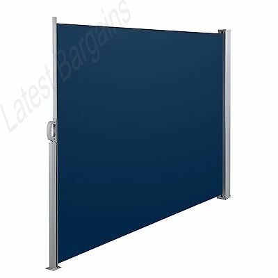Retractable Side Shade Awning for Home Patio Balcony Privacy Screen Panel 1.8X3M