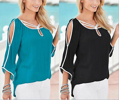 Blouse Women Tops Sleeve Short New Ladies Summer Loose T-Shirt Casual Top