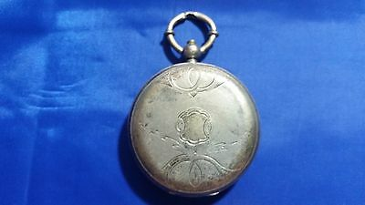 Henri Perret Pocket Watch. Patent Lever 13 jewels. Fine Silver Case. For parts.