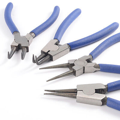 4pc Circlip Plier Set Snap Ring Pliers Internal External Bent Straight Tool kit