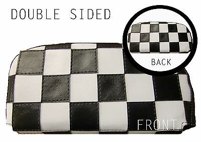 DBL Sided B/W Check Scooter Back Rest Cover (Purse Style)