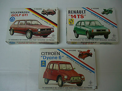 3 Scatole Montaggio, Complete, Vintage,renault 14,golf Gti,dyane 6 Made Italy.