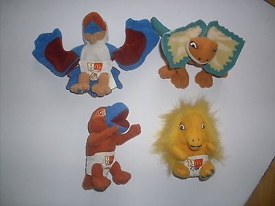 McDONALDS SYDNEY 2000 OLYMPIC GAMES MASCOT Plush Babies Olly, Lizzy, Millie, Syd