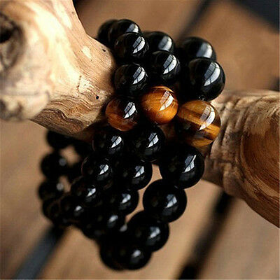 Men's Women's Fashion Jewelry Agate Tiger Eye Beads Bangle Bracelet New Arrival