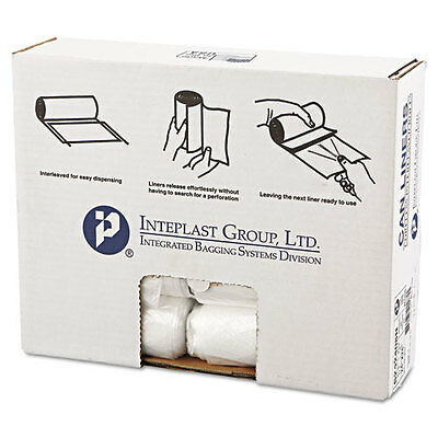 Inteplast Group High-Density Can Liner, 24 x 24, 10gal, 8mic, Clear, 50/Roll...