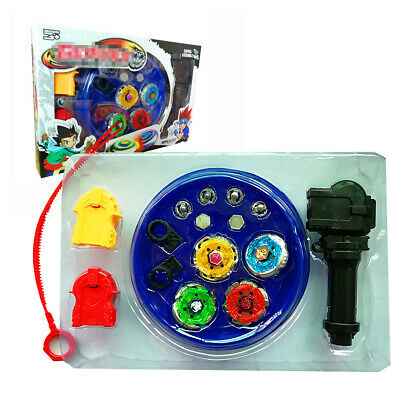 Top Metal Master Rapidity Fight Rare Beyblade 4D Launcher Grip kid Toy Set FE