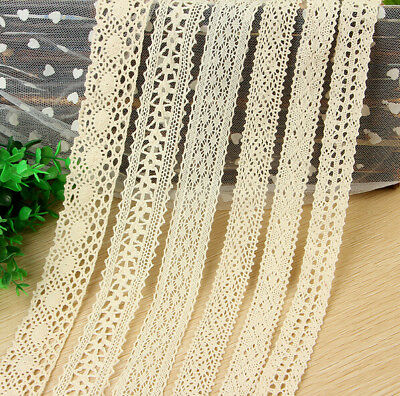 10 Yards Lace Bridal Wedding Trim Ribbon Cotton Crochet clothing Accesories