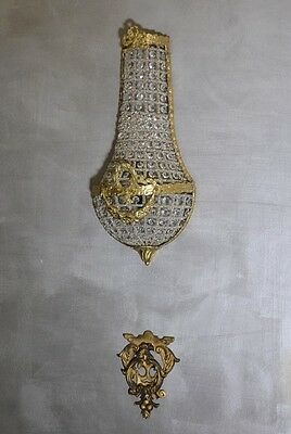Wall Lamp Sconce Brass Glass Retro Decorative Art Deco Shabby Baroque Style Gold