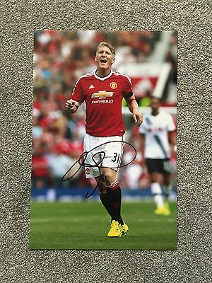 "Bastian Schweinsteiger Hand Signed 12x8"" Photo Man United Autograph Proof COA"