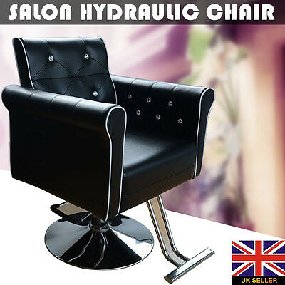 Black Classic Barber Salon Hydraulic Chair Hairdressing Styling Beauty Furniture