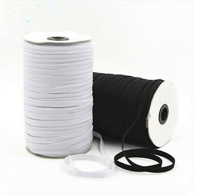 Black and white knitting elastic stretch line sewing ribbon