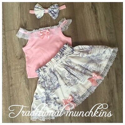 Toile Skirt, Top And Hair Bow Spanish Romany Outfit