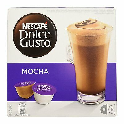 Dolce Gusto Coffee Mocha (6 Boxes,Total 96 Capsules ) 48 Servings