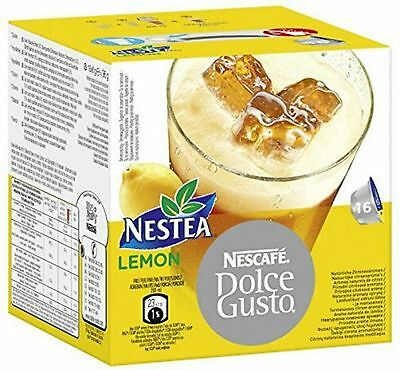 Dolce Gusto Nestea Lemon Coffee (6 Boxes,Total 96 Capsules ) 96 Servings
