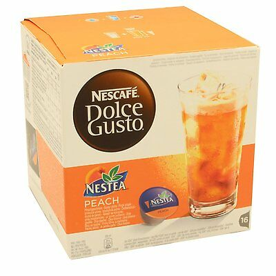 Dolce Gusto Nestea Peach Coffee (3 Boxes,Total 48 Capsules ) 48 Servings