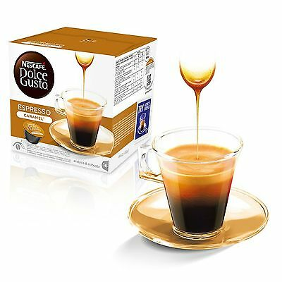 Dolce Gusto Espresso Caramel Coffee (6 Boxes,Total 96 Capsules ) 96 Servings