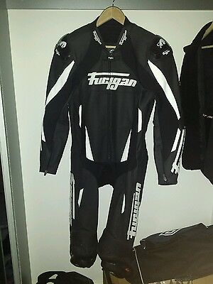 Furygan Dark Apex Perforated Leather 1 One Piece Motorcycle Motorbike Suit UK 40