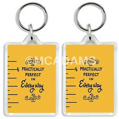 Mary Poppins Classic Dvd Movie Inspired Practically Perfect Keyring
